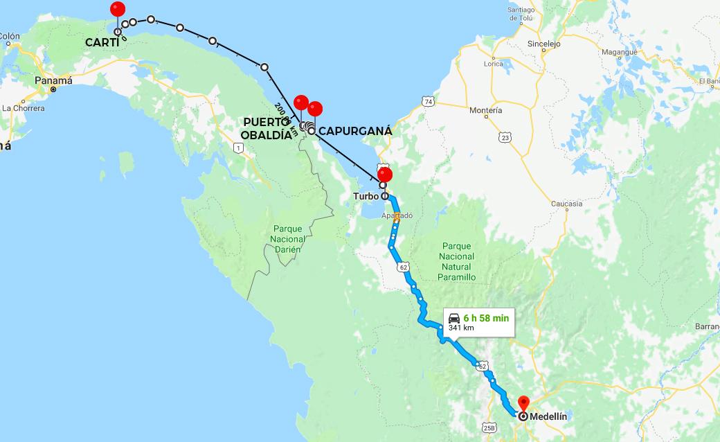 plan b viajero, cruzar de colombia a panama, como viajar de colombia a panama en lancha