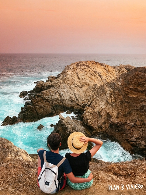 plan b viajero, turismo responsable, playas de oaxaca, mazunte punta cometa atardecer