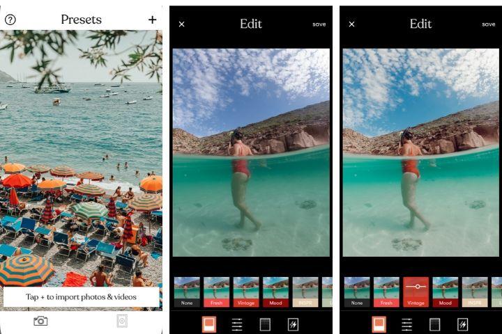 apps para editar fotos para instagram, tezza app