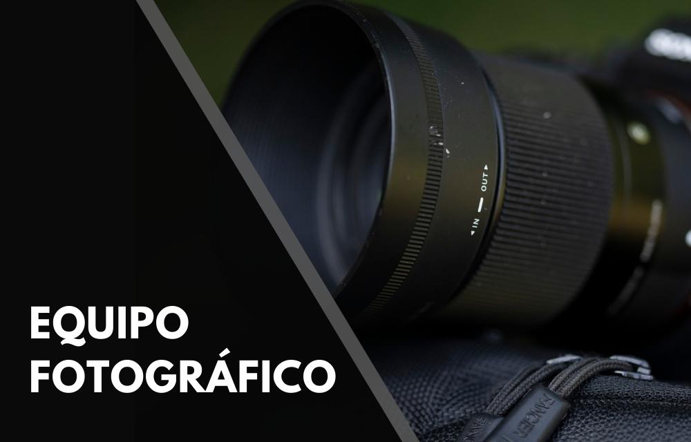 plan b viajero, equipo fotografico