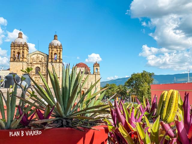 Terraza con vista al Templo de Santo Domingo